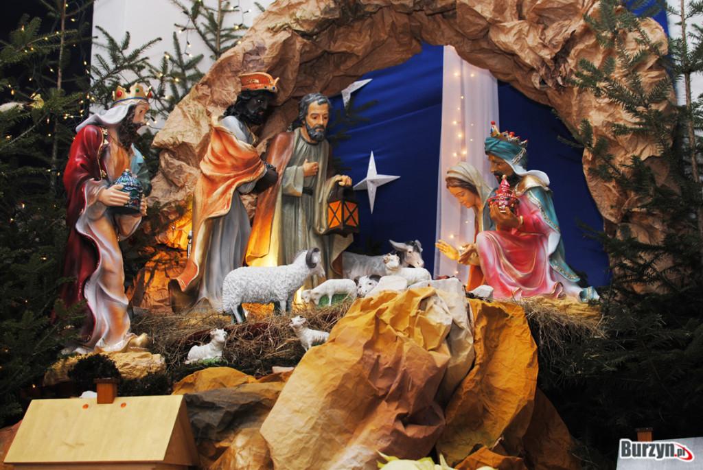szopka bożonarodzeniowa kościół burzyn