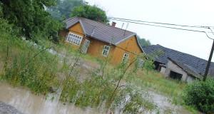 Powódź – rzeka przelewa się po raz drugi.