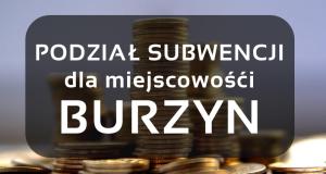 Podział subwencji dla Burzyna