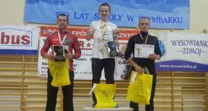 Podium zawodników LKS Burzyn