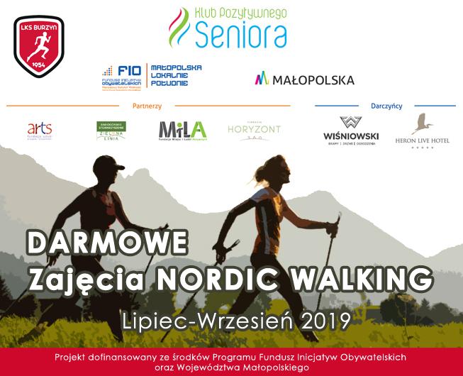 Klub Pozytywnego Seniora 2019 – Darmowe zajęcia Nordic Walking w Burzynie