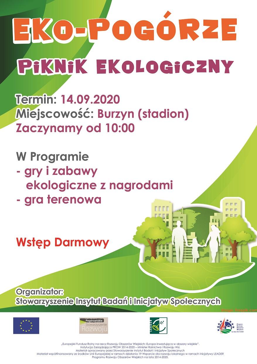 Zaproszenie na piknik ekologiczny – EkoPogórze – Burzyn– 14.09.2020